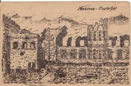MESSINES-MESEN (Belgique) Klosterhof Carte Militaire Dessinée Par P.DENYS-DESSIN-Guerre-Feldpost- - Messines - Mesen
