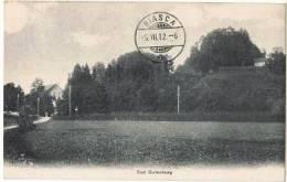 TELL 71 - Cachet Bahnpost De Langenthal-Wolhusen Sur Carte Postale De Bad Gutenburg Pour Biasca 1912 - Marcophilie