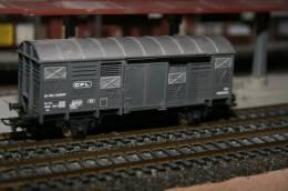HO, JOUEF, Wagon Couvert Des CFL - Wagons Marchandises