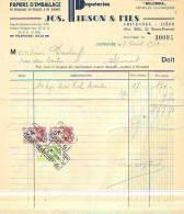 Grivegnée - 1943 - Jos. Pirson & Fils - Papeteries - Manufacture De Sacs En Tous Genres - Imprimerie & Papeterie