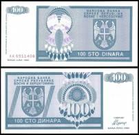 BOSNIE H. Bosnia Herzegovina 100 DINARA 1992 P 135 UNC NEUF - Bosnien-Herzegowina