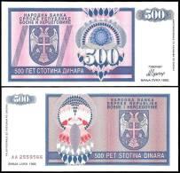 BOSNIE H. Bosnia Herzegovina 500 DINARA 1992 P 136 UNC NEUF - Bosnien-Herzegowina