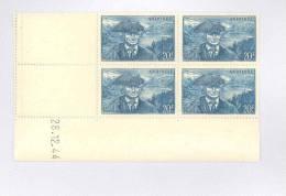 ANDORRE FRANCAIS - Y&T N°115-  Coin Daté  4 TP **  Du 28/12/1944 - Andorre Français