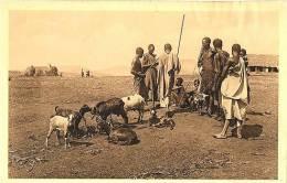 Afrique Ruanda Astrida Marché Le Coin Des Chèvres Animé - Ruanda-Urundi