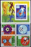 NIGER - WORLD CUP 1978 ARGENTINA -  SET + BL   IMPERF   - **MNH - 1978 - Coupe Du Monde