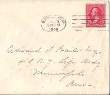USA Commercial Cover,  Stamp, Postal Markings (9868) - Etats-Unis