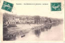 TONNEINS  Vue Générale De La Garonne Les Quais Petits Trous D'épingle - Tonneins