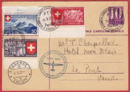 Eröffnung Der Landesaustellung Meldflug PPro Aero 6.5.1939 / Arrivée : Lausanne.  1 Série Complète - Primi Voli