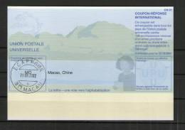 2361 IRC IAS CRI - International Reply Coupon - Antwortschein T31 Gestempelt  Macao Macau MO20011130AA - 1999-... Sonderverwaltungszone Der China