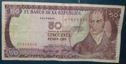 Colombie 1 Billet De 50 Pesos Oro.etat Correct - Colombie