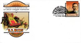 AUSTRALIE. Entier Postal Avec Oblitération 1er Jour De 1984. Machine Agricole. - Agriculture