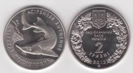 """UCRANIA  2  HRYVNIA  2.012  2012  """"Esturión De Agua Dulce""""  PROOF  SC/UNC   T-DL-10.350 - Ukraine"""