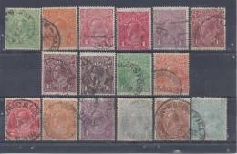 AUSTRALIE - 1914/23  -    SERIE  N° 18 A 31  -  OBLITERES  - B  - - Australia