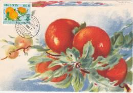 Carte Maximum  Foire Exposition Les Fruits Aout 1970 - Algeria (1962-...)