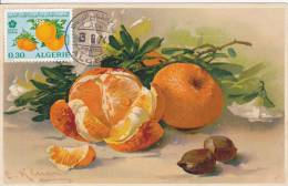 Carte Maximum  Foire Exposition Les Fruits 13.08.74 - Algeria (1962-...)