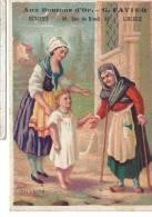 IMAGE 6.5 X 9.5 Cm AUX BOUTONS D´OR G FAVIER MERCERIE LINGERIE PARIS La Charité Mendiant - Trade Cards