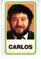 """Carte Petit Format Du """"jeu Des Vedettes """" : """" Carlos """" - Old Paper"""
