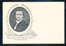 Deutschland Schwarz Weiße Ansichtskarte Froeschweiler Gruß Aus..... Pfarrer Klein Kopfabbildung Nicht Gelaufen Ca. 1900 - Otras Celebridades