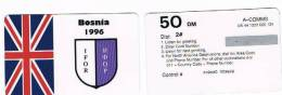 RIF.3 - BOSNIA - IFOR 1996 GRAN BRETAGNA (GREAT BRITAIN) - REMOTE MEMORY NUOVA ( A-COMMS)  DA 50 DM IN CARATTERI GRANDI - Bosnia