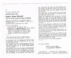 TIELT - BEVEREN A/d IJZER - ESEN - ROESBRUGGE  - NOORDSCHOTE  ,doodsprentje Van Pastoor Valère POLLET + 1981 - Historische Dokumente