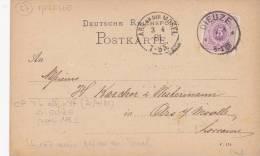 LORRAINE ALLEMANDE DIEUZE   INDICE 3 - Poststempel (Briefe)