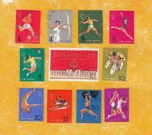 VR-China  1965  903 - 913  (2. Nationale Sportspiele)  Gestempelt Kpl. - Usados