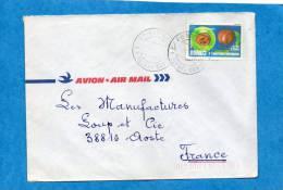 MARCOPHILIE-lettre-congo  -cad- -1985stamps N°753 -fruit Gambeya-pour Françe - Congo - Brazzaville