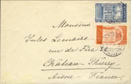 """1924-Svizzera Lettera Diretta In Francia Affrancata Con S.2v.""""""""Cinquantenario Dell'U.P.U."""""""" - Premiers Vols"""