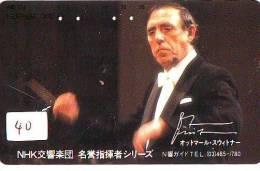 Télécarte Japon *  * Chef D ´orchestre (40) CONCERT Musique Music * PHONECARD JAPAN * CONDUCTOR - Musik