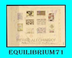 4244/4253 CS/HK -Carte Souvenir Numérotée, Signée/Genummerd Herdenkingskaart, Getekend - Pierre Alechinsky - Herdenkingskaarten