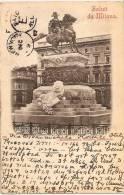 ITA - MILANO - Monumento A Vittorio Emanuele +++ Vers South Paris, Maine, USA, 1897 +++ CODED Text ++ - Milano (Milan)