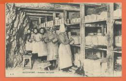 U039, Roquefort , Intérieur Des Caves, Femmes Entrain De Tourner Les Fromages, Circulée  1917 Sous Enveloppe - Artisanat
