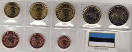 Eesti EURO-Einführung 2011 Stg 22€ Stempelglanz Der Staatlichen Münze Estland Set 1C. - 2€ Coins Of Republik Of Estonia - Estonia