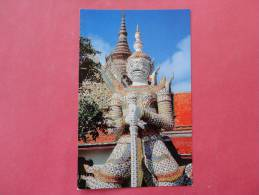 Bankok Thailand -- S Giant Guardian Temple Of Dawn - Early Chrome---- Ref- 841 - Indonesia