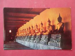Thailand -  Bankok-  Buddhas Images Buddha Temple - Early Chrome---- Ref- 841 - Indonesia