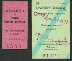 VG423 GERMANY 2 Tickets - Railway