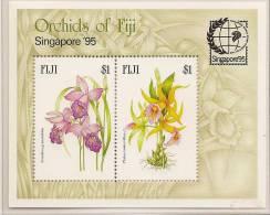 FIJI 1995 Orchids M/S SG MS929 UNHM #EV006 - Fiji (1970-...)