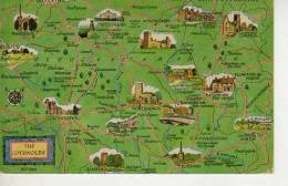 MAPA DE THE COTSWOLDS  Southwestern And West-central England    OHL - Landkaarten