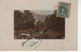 PAISAJE ENCUADRADO ESCRITO  MARIA ESTHER FEBRERO 9 AÑO 1910  CIRCULADA URUGUAY    OHL - Postkaarten
