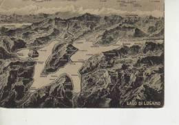 MAPA DEL LAGO DI LUGANO Y ALREDEDORES  OHL - Landkaarten