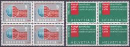 Nos 351 Et 375 En Blocs De 4 ** - Schweiz