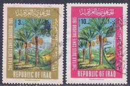 Iraq, Scott #393-4 Used Date Palms,1966 - Iraq