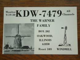 KDW-7479 Ther Warner Familiy Oakwood Illinois Windmill ( U.S.A. ) Anno +/- 1980 ( Zie Foto Voor Details ) - CB