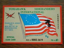 TOMAHAWK SIDEBANDERS INT. Charles G. Jones Bridgewater N.Y. 13313 ( U.S.A. ) Anno 1982 ( Zie Foto Voor Details ) - CB