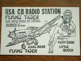 FLYING TIGER Coatesville PA 19320 ( U.S.A. ) Anno +/- 1980 ( Zie Foto Voor Details ) - CB