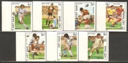 Vietnam 1986 Mi# 1664-1670 U (*) Mint No Gum - Imperf. - World Cup Soccer Championships, Mexico City - Vietnam
