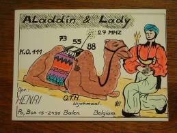 ALADDIN & LADY QTH Wijchmaal PO BOx 15 Balen ( Belgium ) Anno +/- 1980 ( Zie Foto Voor Details ) - CB