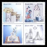 BRAZIL 2004 - C.14 Mint MNH // Masonic Symbols - Brésil