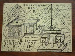 ITALIA TOSCANA CB Sciuscia O. P.O.P. Livorno ( Italy ) Anno +/- 1980 ( Zie Foto Voor Details ) - CB