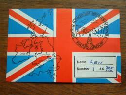 United Kingdom Int. Radio Group / Peace Unity ( Ken )  ( U.K. ) Anno +/- 1982 ( Zie Foto Voor Details ) - CB